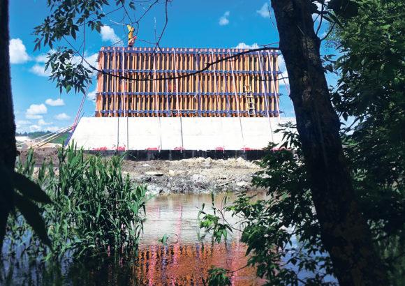 Опоры ЖД моста